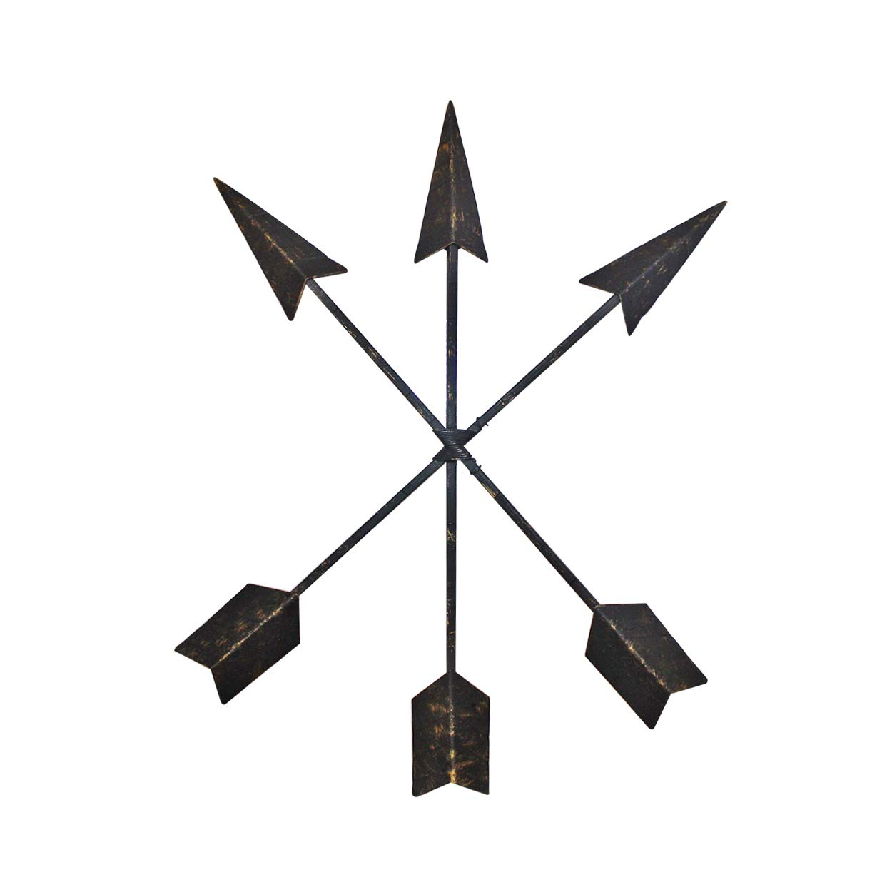 Wall Charmers 15 inch Cast Iron Arrow Wall Decor Set of 3 Native American Metal Arrows - Handmade Farmhouse Decor by Wall Charmers