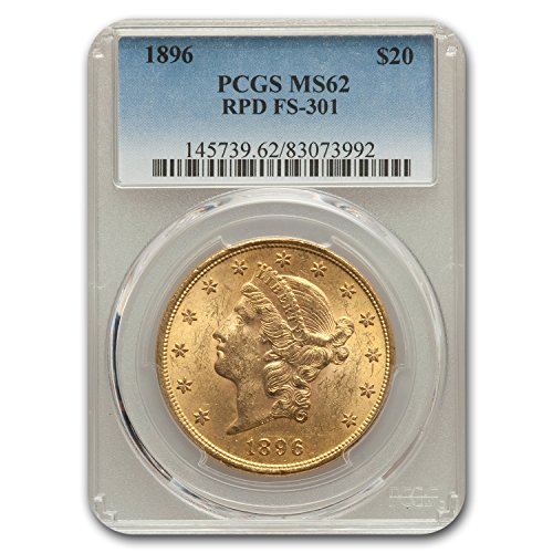 1896 $20 Liberty Gold Double Eagle MS-62 PCGS (FS-301, RPD) G$20 MS-62 PCGS