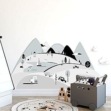 Wandtattoo Wandaufkleber Bild Sticker Kinderzimmer 3d Xxl Graue