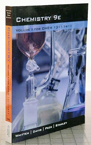 Chemistry 9E Volume 1 For Chem 1311/1411 (Volume 1)