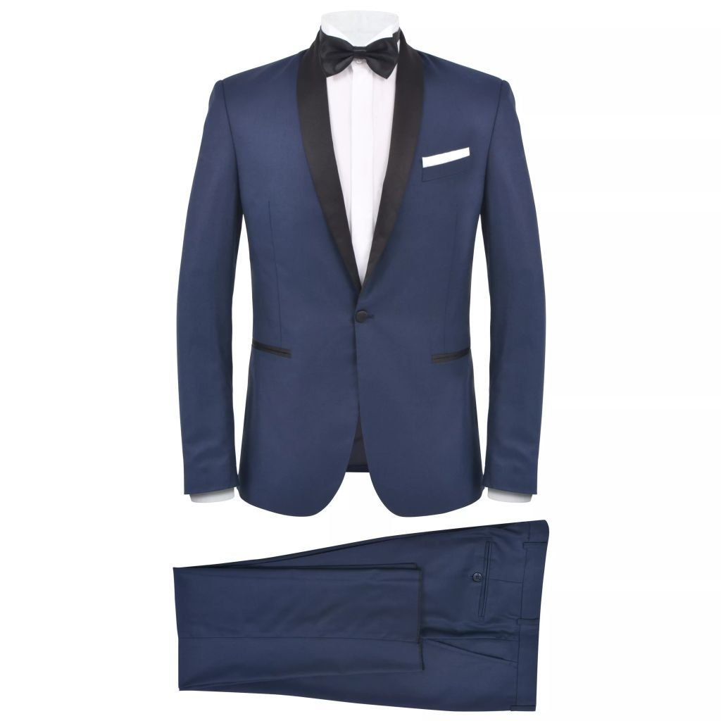 vidaXL Smoking 2 pz Vestito da Cerimonia Uomo Giacca Elegante