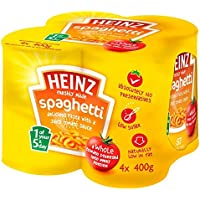 Heinz Spaghetti in Tomato Sauce, 400 g (Pack of 4)