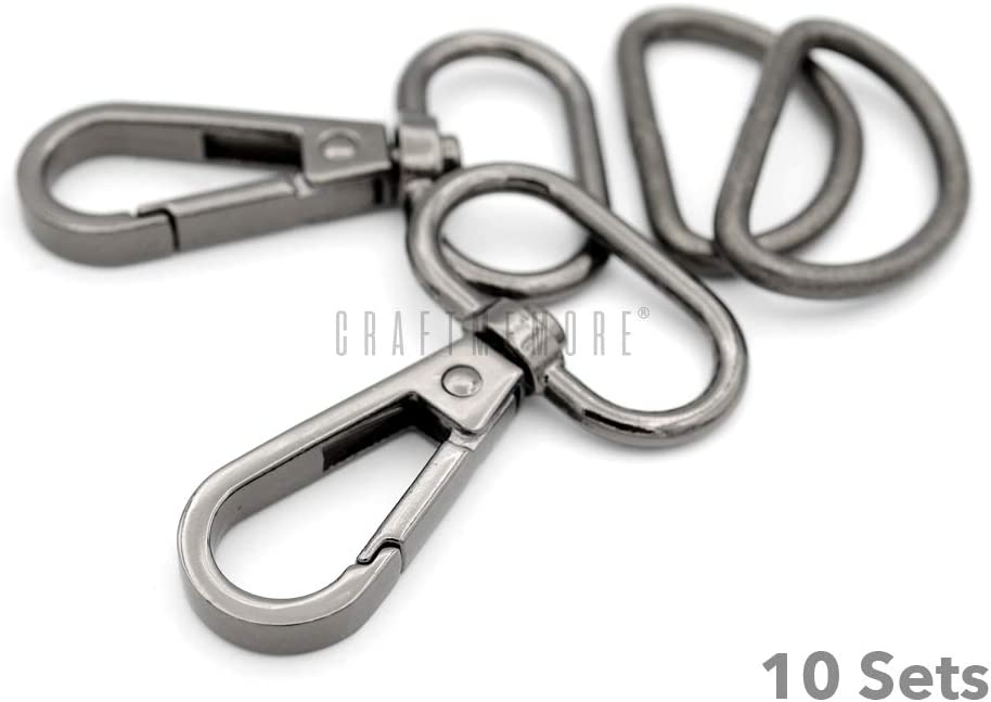 53 mm with 10 mm diameter ring Snap Hooks - Pack of 18 Size