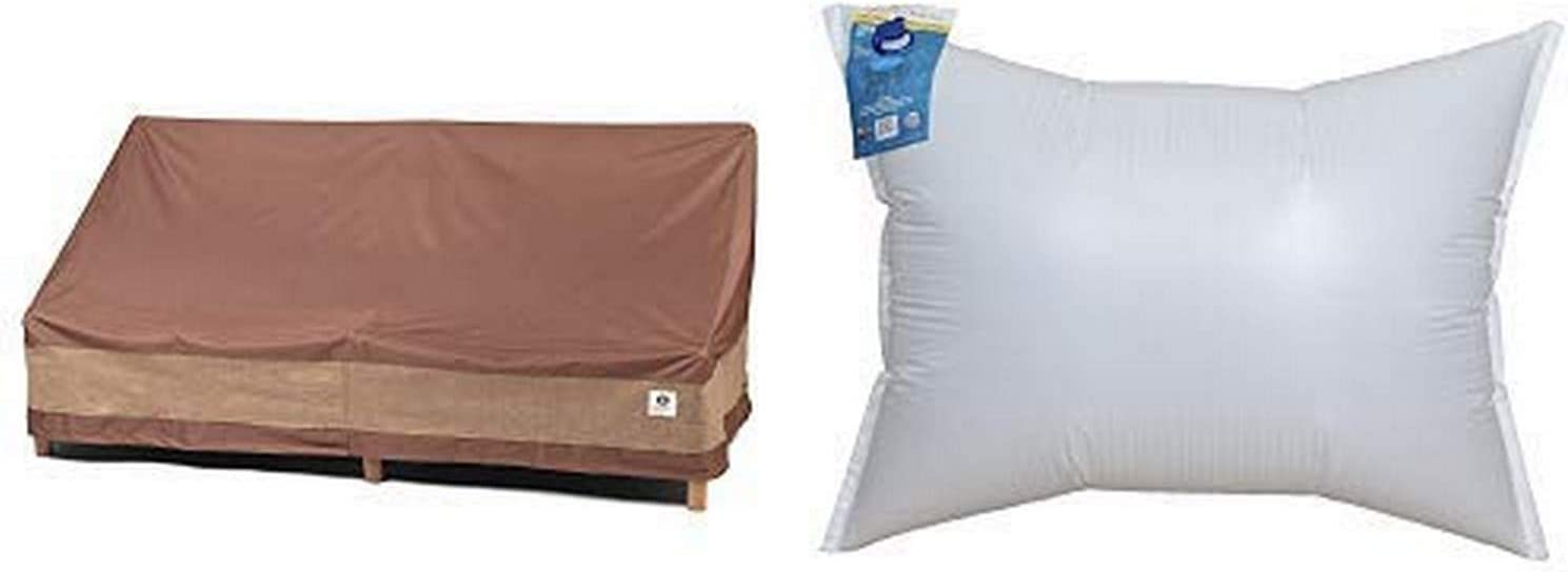 """Duck Covers Ultimate Patio Loveseat Cover, 54-Inch with Duck Dome Airbag, 48""""L x 36""""W"""