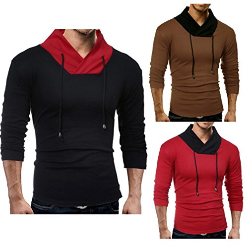 Sunbona Men's Fashion Solid Patchwork Color Compression Fitness Muscle Stretch long Sleeve Casual Spring Summer T shirt Tops