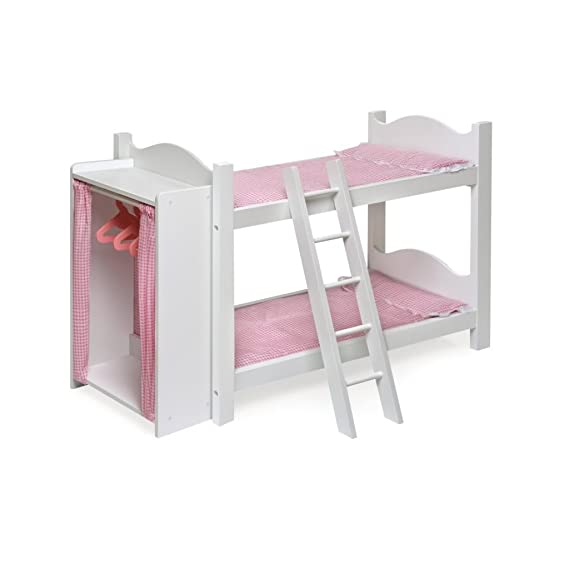 Amazon Com Toy Game Pretty Badger Basket Doll Bunk Beds With
