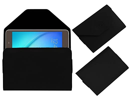 Acm Pouch Case Compatible with Samsung Galaxy Tab A T355y Flip Flap Cover Holder Black Cases   Covers