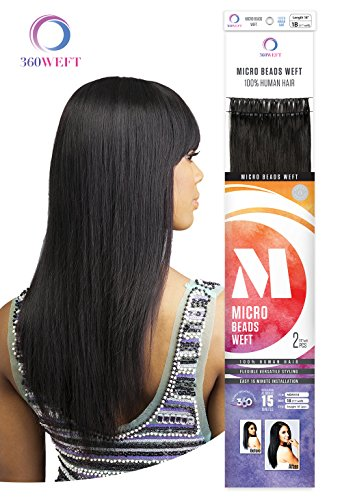 [100% REMY HUMAN HAIR]CHADE HUMAN HAIR WEAVE 360WEFT MICRO BEADS WEFT 14