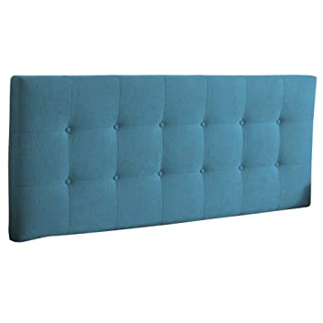 Amazon.com: Cabecero tapizado para cama cuña cabeza cojín ...