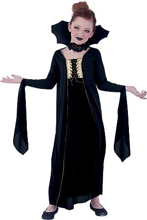 Rubies- Disfraz infantil vampiresa gótica, Color negro, M (5-7 ...