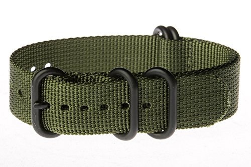 OhFlash-22mm-Solid-Olive-Zulu-5-Ring-PVD-G10-Nylon-Nato-Militaty-Watch-Band-Strap
