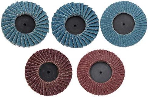 5tlg Fächerscheiben Lamellenscheibe Schleifmopteller Fächerschleifscheibe Ø75mm + 50mm, 80 Körnung