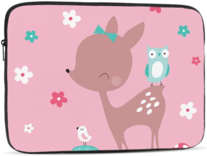 Designed to Fit Any Laptop//Notebook//ultrabook//MacBook with Display Size 11.6 Inches Hedgehog Deer Friend Pattern Neoprene Sleeve Pouch Case Bag for 11.6 Inch Laptop Computer