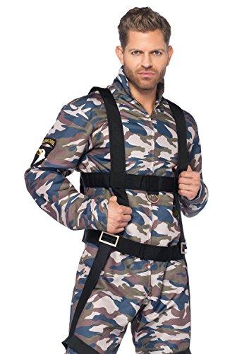 Top Gun Paratrooper Adult Mens Costumes (Leg Avenue Men's 2 Piece Paratrooper Costume, Camo, Medium)