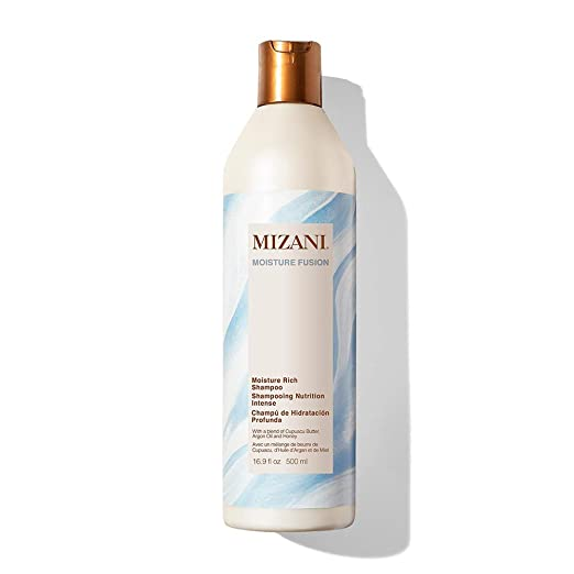 MIZANI Moisture Fusion Moisture Rich Shampoo, Gently Cleanses & Conditions Hair, with Argan Oil, for Dry Hair