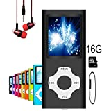 MP3 Player/MP4 Player, Hotechs MP3 Music Player with 16GB Memory SD card Slim Classic Digital LCD 1.82 Screen MINI USB Port with FM Radio, Voice record