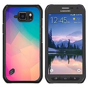 LECELL--Funda protectora / Cubierta / Piel For Samsung Galaxy S6Active Active G890A -- melocotón del trullo púrpura arte polígono amarilla --