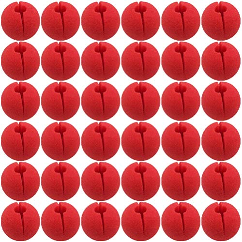 TableRe 36 Pack Premium Red Nose Foam Circus Clown Nose For Comic Party Supplies Halloween Decorations -