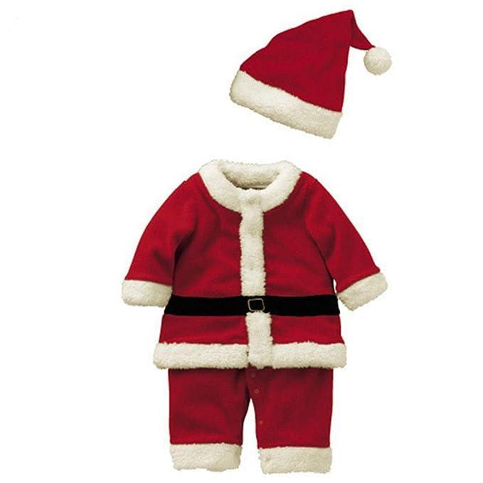 Cosanter Disfraz de Papá Noel, Ropa de Navidad para niños y Niña, Santa Claus Cosplay Rojo