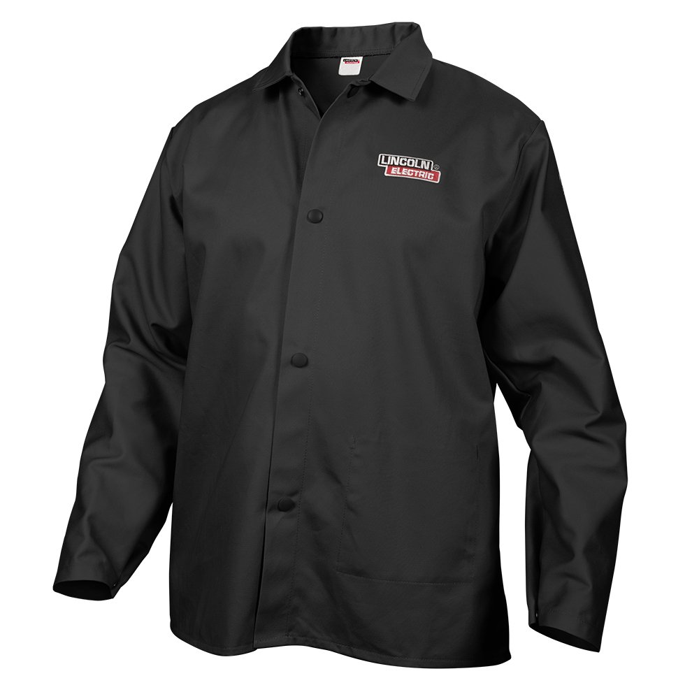 Lincoln Electric Black X-Large Flame-Resistant Cloth Welding Jacket KH808XL
