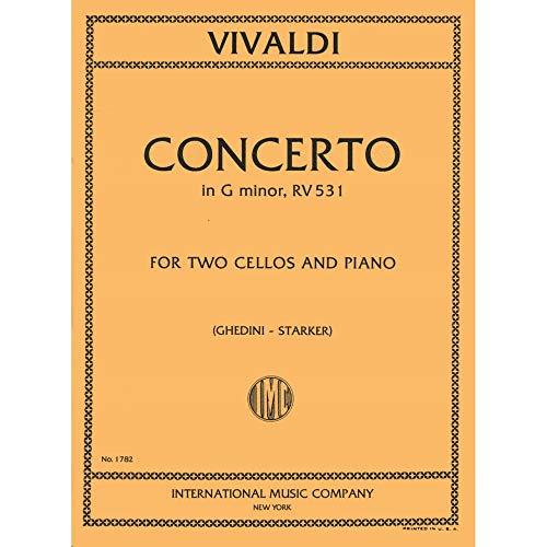 Vivaldi Antonio Concerto In g minor F III No2 RV 531 For Two Cellos and Piano. by ()
