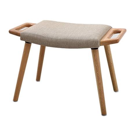 Amazon.com: TT&D IAIZI Small Wooden Bench Stool Solid Wood ...