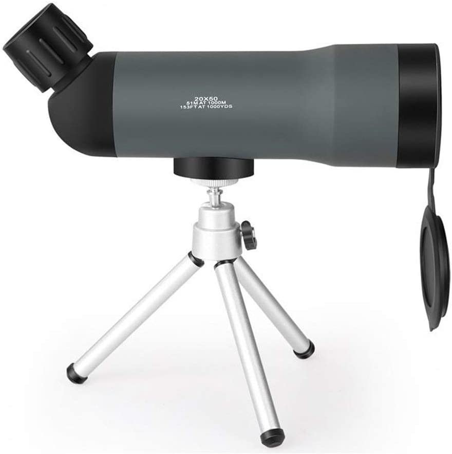 KANGSHENG Monoculares Telescopio portátil 20x50 HD Zoom Trípode Caza al Aire Libre Observación de Aves Prisma Monocular, Regalo de cumpleaños, Regalo para niño