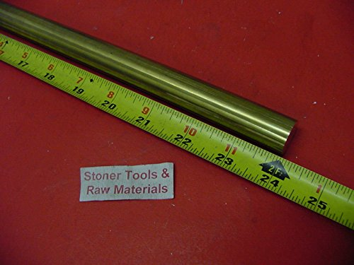 1'' C360 BRASS SOLID ROUND ROD 24'' long New Lathe Bar Stock 1.000'' 1/2 Hard by Stoner Metals