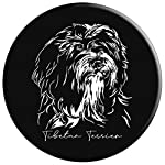 Funny Proud Tibetan Terrier dog portrait gift present PopSockets Grip and Stand for Phones and Tablets 8