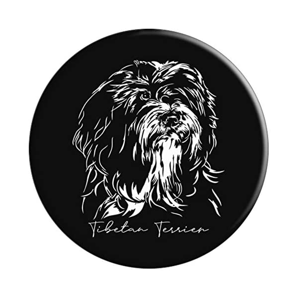 Funny Proud Tibetan Terrier dog portrait gift present PopSockets Grip and Stand for Phones and Tablets 3