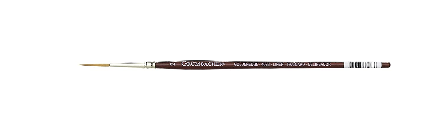 Grumbacher Goldenedge Golden Toray Liner Watercolor Brush, Synthetic Bristles, Size 2 (4623.2) Chartpak Inc.