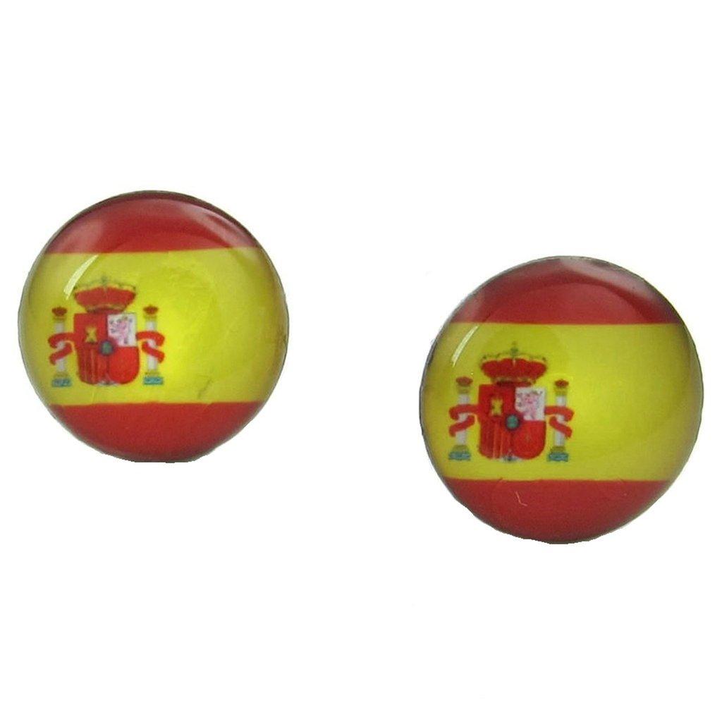 936e33a22e54 Beydodo Pendientes de Perno Prisionero de Hombre Acero Inoxidable Forma  Bandera de España Color Rojo Amarillo