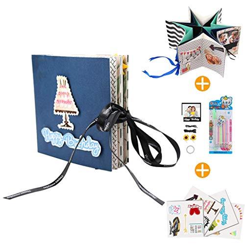 Kicpot Creative Explosion Album, Handmade Scrapbooks Photo Albums Birthday Gift for Boyfriend Anniversary, Wedding, Travelling, Baby Shower