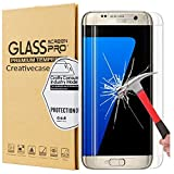 Galaxy S7 Edge Screen Protector,S7 Edge Screen Protector,Creativecase [Anti-Scratch][9H Hardness][Case Friendly] Clear Tempered Glass Screen Protector for Samsung Galaxy S7 Edge
