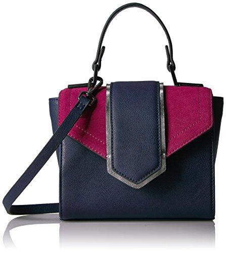 The Fix Love Mini Top Handle Crossbody Bag, Fuchsia/Navy