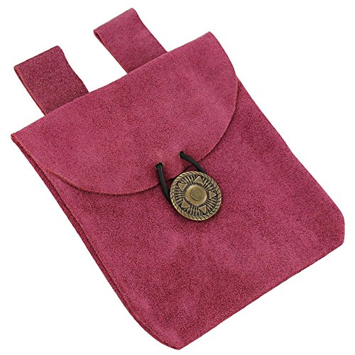 Keen Charisma Pink Suede Leather Pouch (Renaissance Peasant Shoes)