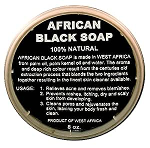 100% Natural African Black Soap Selection !!! (8 Oz Liquid Soap)