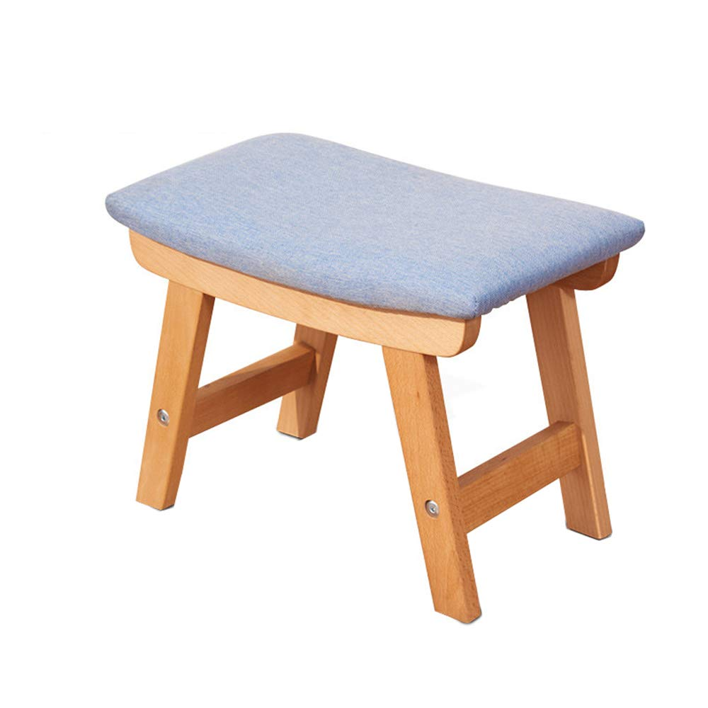 Stool - Shoe Bench, Living Room Solid Wood Sofa Bench, Home Fabric Children's Stool/Bench