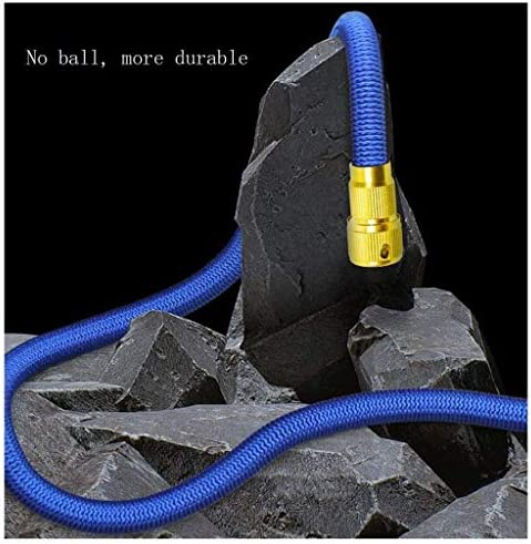 Sturdy Garden Hose, The Most Flexible Magic Hose, Expanded, with Solid Brass Fittings and Multifunctional Nozzles