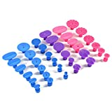 36 Pcs Repair Tools Paintless Dent, Cuque Auto Car Body Dent Repair Kit Nylon Glue Puller Tabs Removal Tool Universal Red Blue Purple