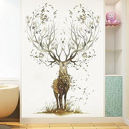 Pareti Dipinte Per Camere Da Letto.Hongrun Creative Elk Wall Art Camera Da Letto Pareti Dipinte Di