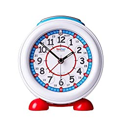 EasyRead Time Teacher Children's Alarm Clock with Night Light, 24-Hour Red & Blue Clock Face