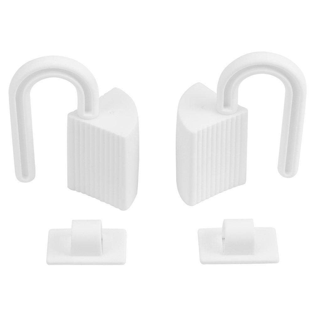 Tope Pl/ástico de la bisagra de la puerta de seguridad con 2 unids para proteeci/ón de beb/é ni/ños de apretado de dedo o manos