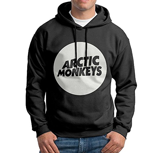 (FDLB Mens Arctic Monkey Hip-Hop Cool Hoodie Sweatshirt M Black)