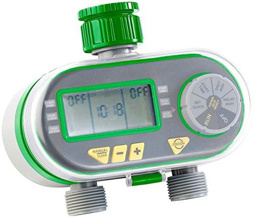Royal Gardineer Digitaler Bewässerungscomputer mit 2 Anschlüssen
