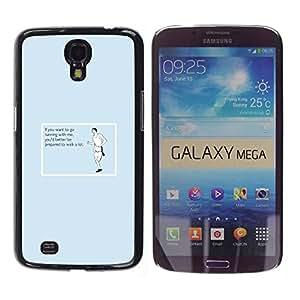 Caucho caso de Shell duro de la cubierta de accesorios de protección BY RAYDREAMMM - Samsung Galaxy Mega 6.3 I9200 SGH-i527 - Exercising Workout Traing Running Funny Quote