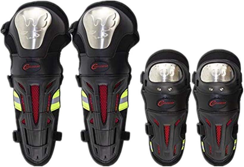 Rodilleras De Motocicleta De 4 Piezas, Rodilleras De Acero De Aleación Para Adultos Protectores De Piernas Motocicletas Todoterreno Protección Armadura Traje Motocicleta Todoterreno ATV