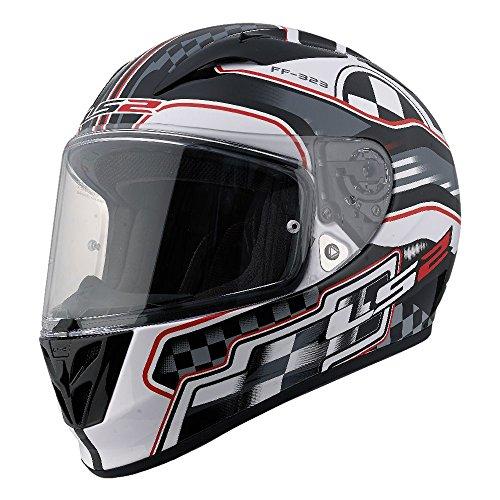 LS2 Arrow Rush Full Face Motorcycle Helmet (White, Small)
