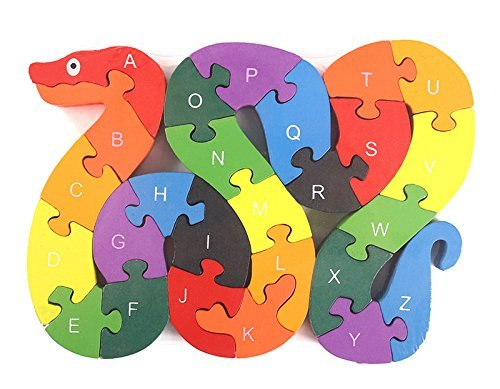 LovesTown Alphabet Jigsaw Puzzle Building Block...