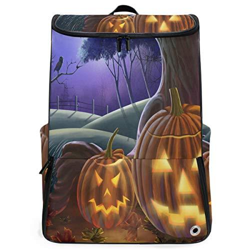 Ladninag Travel Backpack Happy Halloween Wallpaper College Backpack for Women Big Rucksack Daypack]()